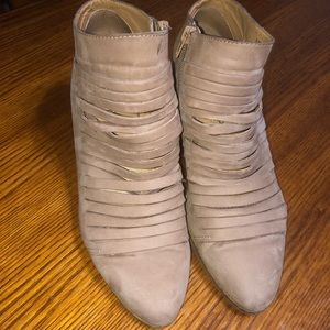 LUCKY BRAND leather bandage boot heel  sz 9.5